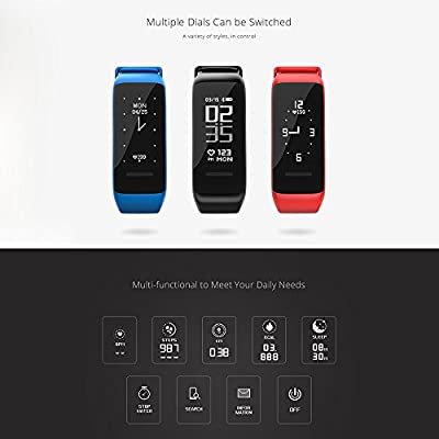 Fitness Tracker, Activity Tracker Watch with Continuous Heart Rate Measurement, IP67 Waterproof Smart Band with Sleep Monitor Call/SMS Reminder Calorie Counter Pedometer for Men, Women and Kids 7