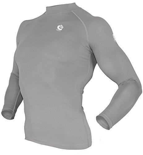 COOVY Sports Rash guard Swim Shirt Skin Base Layer Heat Long Sleeve UPF 50+