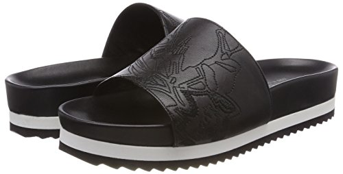 Negro Embroide Mules Mujer Gabriele Black para Ada Strehle qfntnAY4