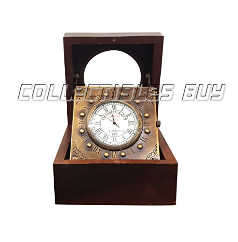 Vintage titanic wooden clock marine home decorative handmade article brass desk clock antique gift item by Collectibles Buy