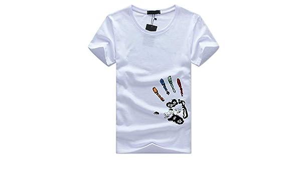 EUZeo – Camiseta minimalista de manga corta para hombre, informal, ajustada, de corte redondo, de manga corta: Amazon.es: Instrumentos musicales