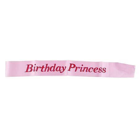 AOWA Cinta de cumpleaños niñas con diseño de Princesa ...