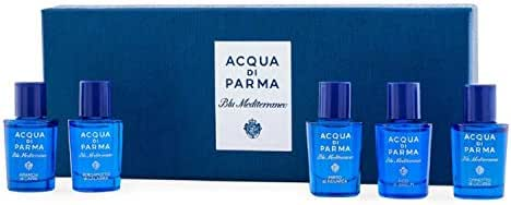 Acqua Di Parma Blu Mediterraneo Miniature Set! Includes Arancia di Capri, Bergamotto di Calabria, Fico di Amalfi, Mirto di Panarea And Chinotto di Liguria! Perfect Fragrance Collection Gift Set!
