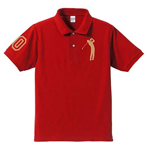 ゴルフ 60 還暦ポロシャツ レッド(ゴールド)大人用 大人用 XXXL(4L)