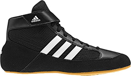 adidas HVC Wrestling Shoes - Black/White- 9