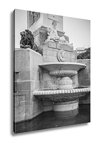 Ashley Canvas Oldest Street In The Capital Of Spain The City Of Madrid Its Architecture And, Wall Art Home Decor, Ready to Hang, Black/White, 20x16, AG5528113 by Ashley Canvas