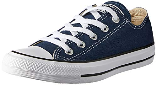 Name On Converse (Converse Unisex Chuck Taylor All Star Low Top Navy Sneakers - 9 B(M) US Women / 7 D(M) US)