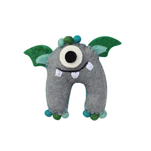 Global Groove Handmade Tooth Fairy Pillow with Pocket from Nepal Monster Sea Monster