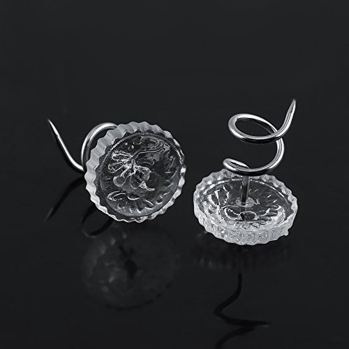 Mattress Pads Upholstery 30//50pcs Upholstery Twist Pins Clear Heads Bed Skirt Pins for Repairing Sagging Headliners Slip Covers Drapery Crafts 30pcs