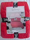 Disney Mickey Mouse Twin Quilt & Sham Set Red