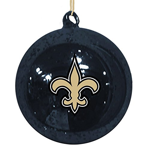 New Orleans Saints Mercury Glass Ball Ornament