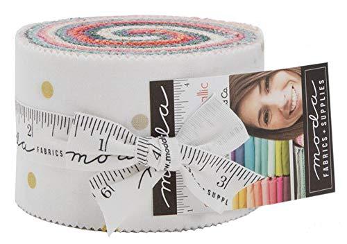 [해외]Moda Fabrics V and Co Ombre Confetti Metallic New Colors Jelly Roll 20 2.5-inch Strips10807JJRMN / Moda Fabrics V and Co Ombre Confetti Metallic New Colors Jelly Roll 20 2.5-inch Strips10807JJRMN