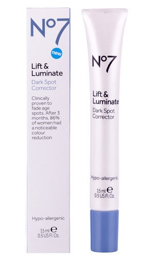 Boots No7 Lift & Luminate Dark Spot Serum, 0.5 oz Bwc Fragrance Free Creamy Eye And Face Makeup Remover - 4 Oz, 6 Pack