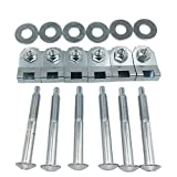 Fudoray Truck Bed Mounting Bolt Nut Hardware Kit for 1997-2012 Ford F150 Lobo Pickup 2006-2008 Lincoln Mark LT Pickup Replaces Dorman 924-313 W708605S436 W709424S901