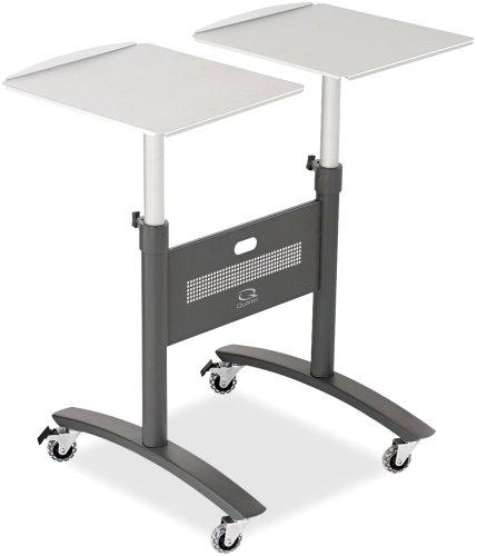 Quartet PMM2 Two-Arm LCD Projector Cart, Two Shelves, 44lb Cap, 34w x 23-5/8d x 47h, Graphite