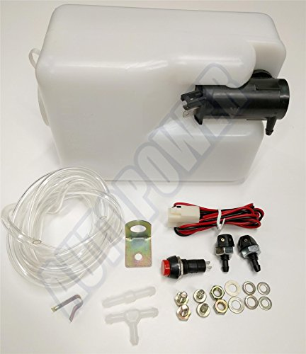 Full Washer Kit 12v Front Or Rear Windscreen Pump, Tube, Joiners, Jets, Bottle: