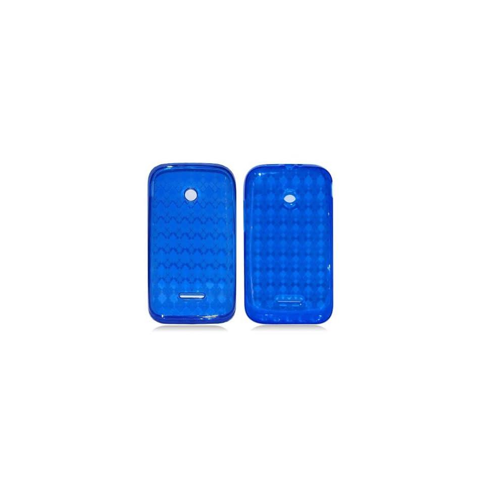 Huawei Inspira H867G/ Glory H868c BLUE PLAID TPU RUBBER CASE Cell Phones & Accessories