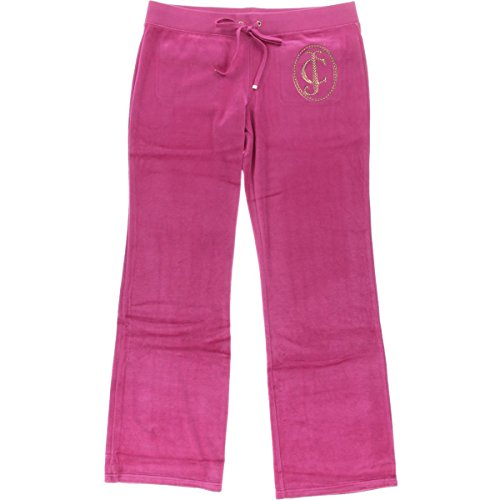 juicy-couture-black-label-womens-ornate-velour-embellished-bootcut-pants-pink-s
