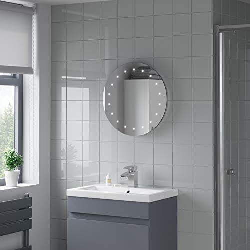 Plumbworld Round LED ILLUMINATED Bathroom Mirror Modern Light Mains Powered Circle 500mm