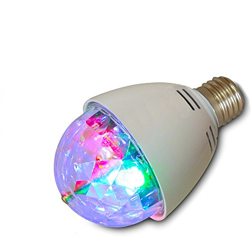 Top Race LED Full Color Rotating Strobe Crystal stage light for Disco party club bar DJ ball Bulb Multi changing Color 2016 Version