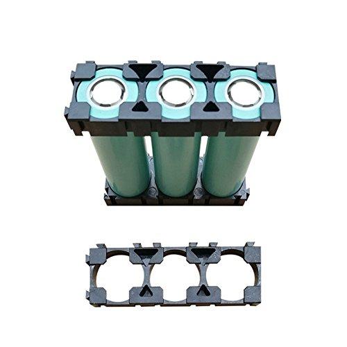 Espeedy Soportes de bater/ía de iones de litio,50 Unids 1x3 Cell Spacer 18650 Soporte de Bater/ía de iones de Litio Pl/ástico Radiating Shell Rack Bater/ía cil/índrica Soporte de Soporte