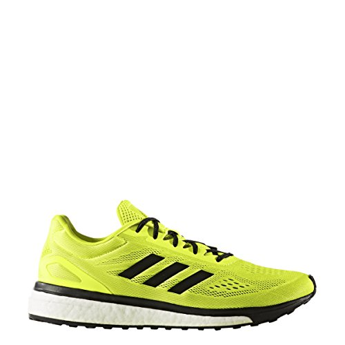 adidas Response Boost Lt Mens Running Shoe 12.5 Solar Yellow-Core Black-White (Boost Solar)
