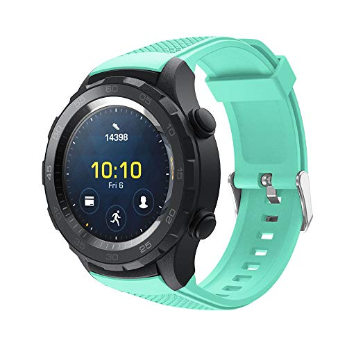 Replacement Band for Huawei Watch 2- Soft Silicone Watch Band Bracelet Wrist Strap Adjustment for Huawei Watch 2 Smart Watch,140-215mm (Mint Green)