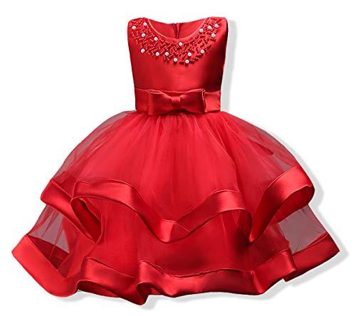 AYOMIS Girls Lace Bridesmaid Dress Wedding Pageant Dresses