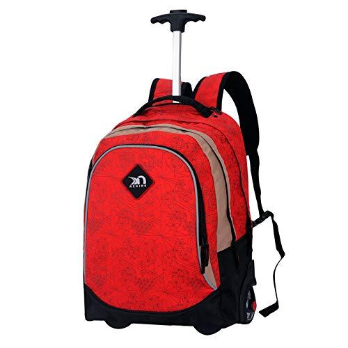 動かされたバックパック、トロリーバックパック極度の軽量のビジネス旅行のバックパック旅行のための車輪が付いているナイロン圧延のバックパック   B07M62YN5Y