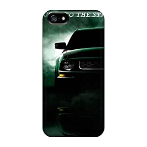 For Iphone 5/5s Tpu Phone Case Cover(mustang Bullitt)