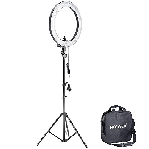 "Neewer 14""Outer 10""Inner 400W 5500K Ring Fluorescent Flash Light Kit, includes(1)Ring Fluorescent Flash Light+(1)75""/190cm Light Stand+(1)Mini Ball Head for Relfectors, Softboxes, Lights, Umbrellas"