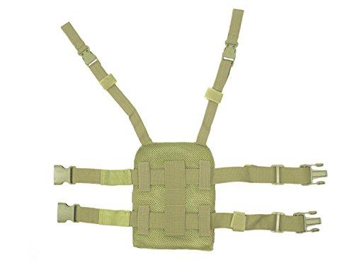BE-X Beinplatte für modulare Taschen / MOLLE, mit Schnelltrennsystem - Coyote Tan / MJK