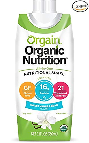 Orgain Organic Nutrition Shake, Sweet Vanilla Bean, Gluten Free, Kosher, Non-GMO, 11 Ounce, 24 Count, Packaging May Vary by Orgain (Image #1)