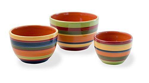 Boston International Ceramic Bowls, Set of 3, A La Fiesta by Celebrate the Home (Image #2)