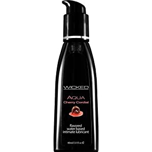 Wicked Lubes Sensual Care Aqua Lubricant, Cherry Cordial, 2 Fluid Ounce