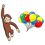 Curious George - 10 Large Wall Accent Murals and Wall Accent