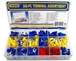 360-Piece Solderless Electrical Terminal Assortment
