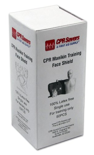 CPR Savers & First Aid Supply 3150A Practice Manikin Face Shields by CPR Savers & First Aid Supply