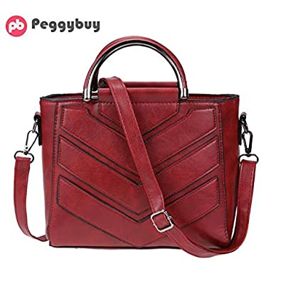 56a46c332f Amazon.com  Women PU Leather Small Satchel Handbag Tote Cross Square Chain  Designer Crossbody Bag Luxury Ladies Casual Solid Messenger Bag Color Red   Shoes