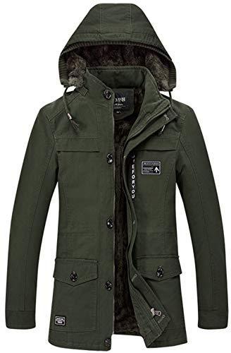 Détachable Doublé Épais À Militaire Homme Veste Parka Men's Capuche Jacket Vert Outdoor Z6m6 Manteaux Chaud Casual Fleece Armée Hiver Tops Cotton Outwear x0wYv7qqI