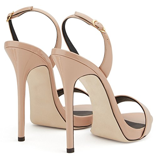 Sexy CLOVER Cour Pompe Chaussures 41 Dames Hauts Peep Chaussures EU42 Classique Talons Stiletto Brown Sandales Talon Toe EU38 Femmes A LUCKY BZqnFfZ