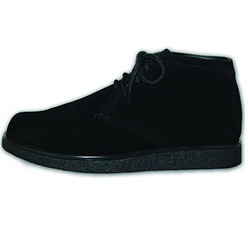 Sko Artister Clearance - Äkta Läder Mens Desert Boot, Svart