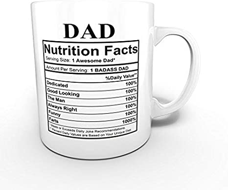 Dad Nutritional Facts Mug Dad  Birthday Gift New Dad Gift Fathers Day Gift Funny