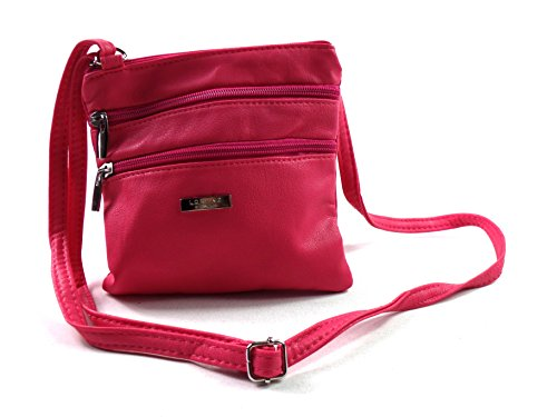 Ladies Small Cerise Crossover Bag Body C046Cq