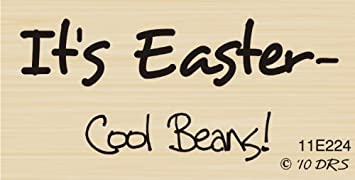 Amazon Cool Beans Easter Greeting Rubber Stamp By DRS Designs