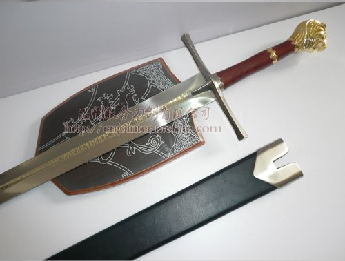 S0121 CHRONICLES OF NARNIA PRINCE LION LEGEND KINGDOM SWORD /PLAQUE & SHEATH (Chronicles Of Narnia Sword)