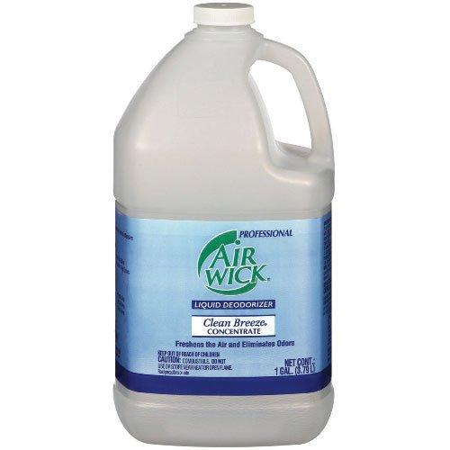 - Air Wick Liquid Deodorizer Concentrate Clean Breeze, Gallon Bottle, 4/Case