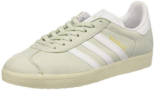 Footwear adidas White Cream Green Baskets Vert Bleu Basses Femme Linen White Gazelle T1qwTO8