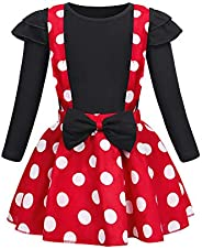 Cotrio Polka Dots Mouse Costume Toddler Baby Girls Tutu Dress Halloween with Headband Kids Outfit