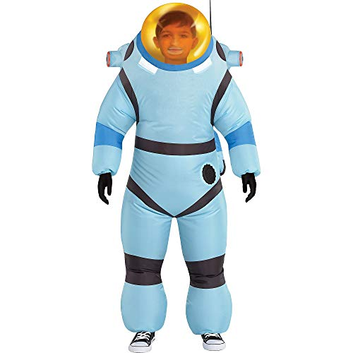 Party City Astroneer Inflatable Bubble Suit Costume for Children, Size Medium, Includes Jumpsuit with Fan and Backpack